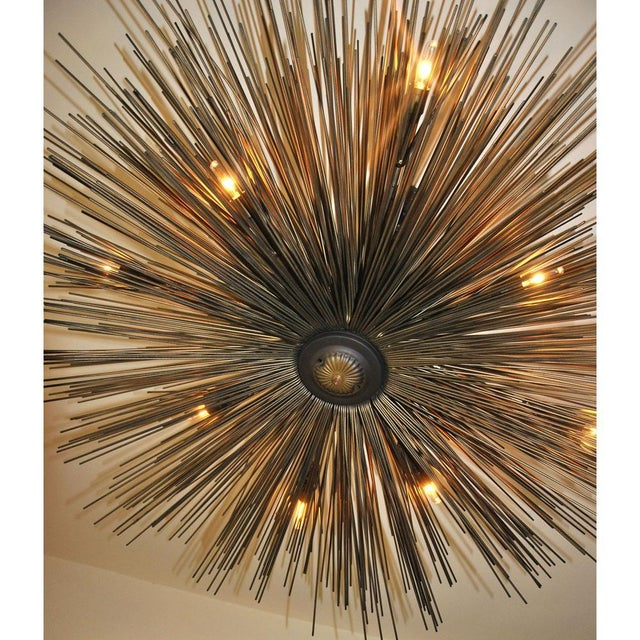 Modern Eight-Light Lumière Chandelier by Jean De Merry Design For Sale - Image 3 of 7
