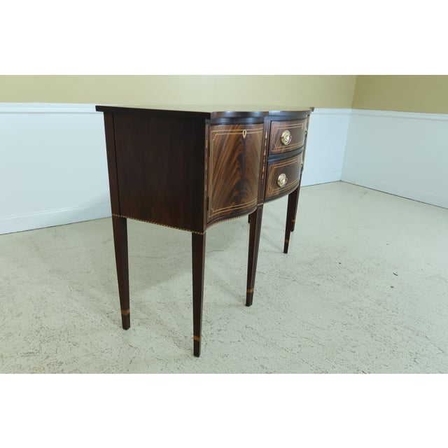 Wood Stickley Federal Style Inlaid Mahogany Sideboard For Sale - Image 7 of 13