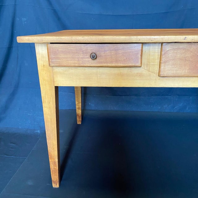 French 19th Century Natural Pine Desk For Sale - Image 9 of 11