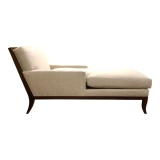 Hickory Chair Transitional Linen Curtis Chaise Lounge 5303-49 For Sale