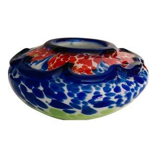 Hand Blown Murano Confetti Style Multicolored Glass Vase For Sale