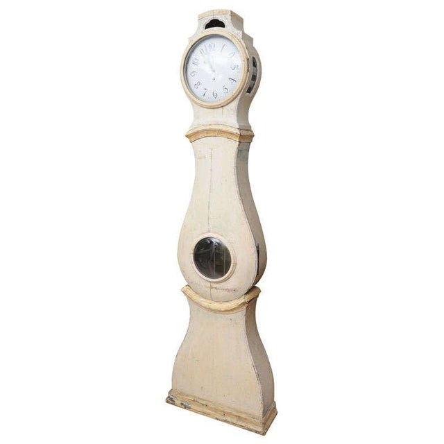 White Painted Gustavian Mora Clock For Sale - Image 8 of 8