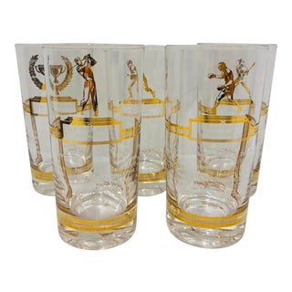 Vintage Set Champion Cocktail Glasses For Sale