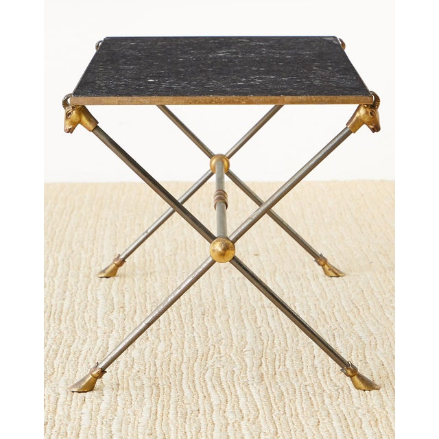 Neoclassical Maison Ramsay Marble Rams Head Cocktail Table For Sale - Image 3 of 13