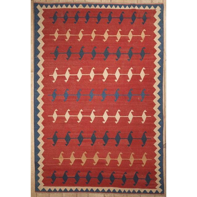 Persian Handmade Kilim Rug - 6'7'' x 9'9'' - Image 2 of 3