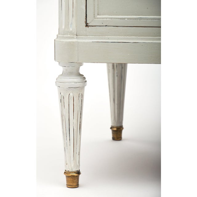 Louis XVI Style French Painted Chest For Sale - Image 9 of 10