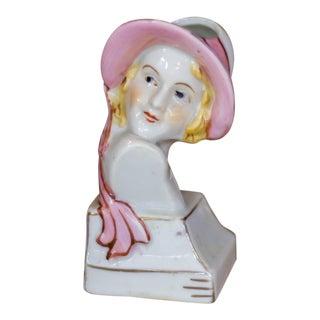 Vintage Porcelain Head Lady Vase