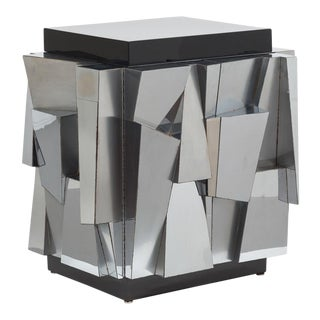 Paul Evans Designed Chrome Cabinet 1970 For Sale