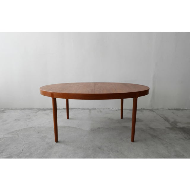 Teak Mid Century Danish Teak Oval Dining Table by Harry Ostergaard for A/S Randers For Sale - Image 7 of 11