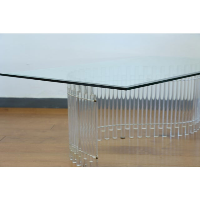 Coffee Contemporary Vintage Lucite Coffee Table For Sale - Image 8 of 10
