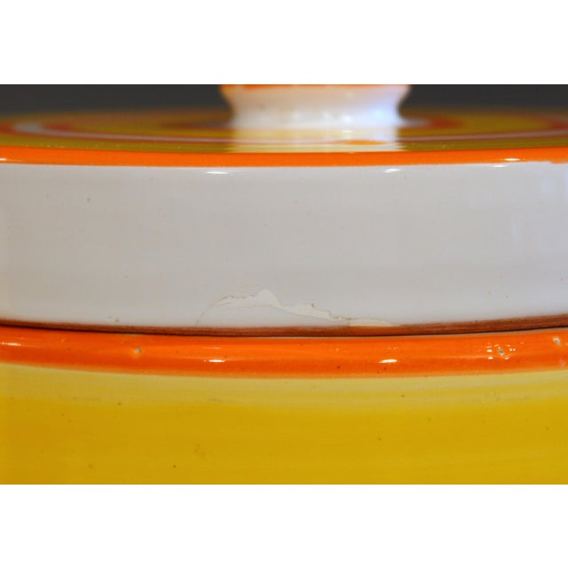 Italian Pottery Stripes Vintage Raymor Canisters - a Pair For Sale - Image 9 of 12