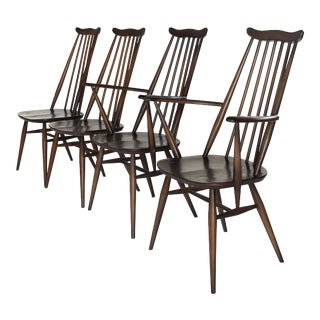 Mid Century Early Ercol Goldsmith Windsor Dining Chairs - Set of 4 For Sale