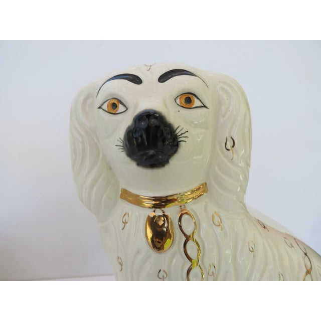 Staffordshire Spaniels - a Pair For Sale In Los Angeles - Image 6 of 10