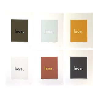 """""""Warm Neutral"""" Contemporary Fine Art Giclee Prints by Neicy Frey - Set of 6 For Sale"""