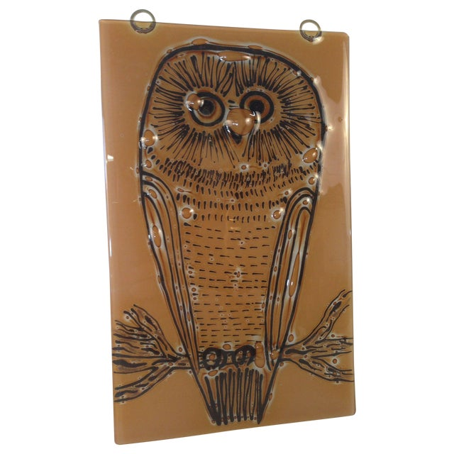 Vintage Higgins Owl Plaque - Image 1 of 6