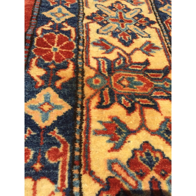 "Kazak Knotted Wool Rug -- 7'6"" x 11'3"" For Sale - Image 9 of 10"