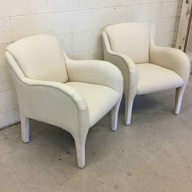 Contemporary Contemporary Modernist Arm Chairs - a Pair For Sale - Image 3 of 10