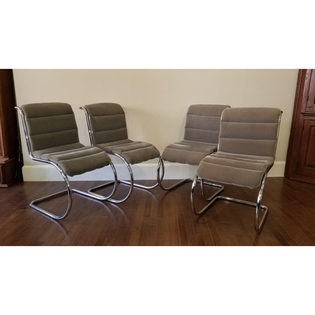 Silver Mies Van Der Rohe Mr10 Cantilever Side Chairs - Set of 4 For Sale - Image 8 of 8