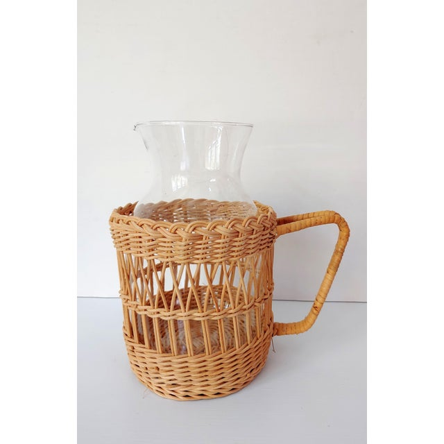 Wicker Carafe Pitcher For Sale In Charleston - Image 6 of 6