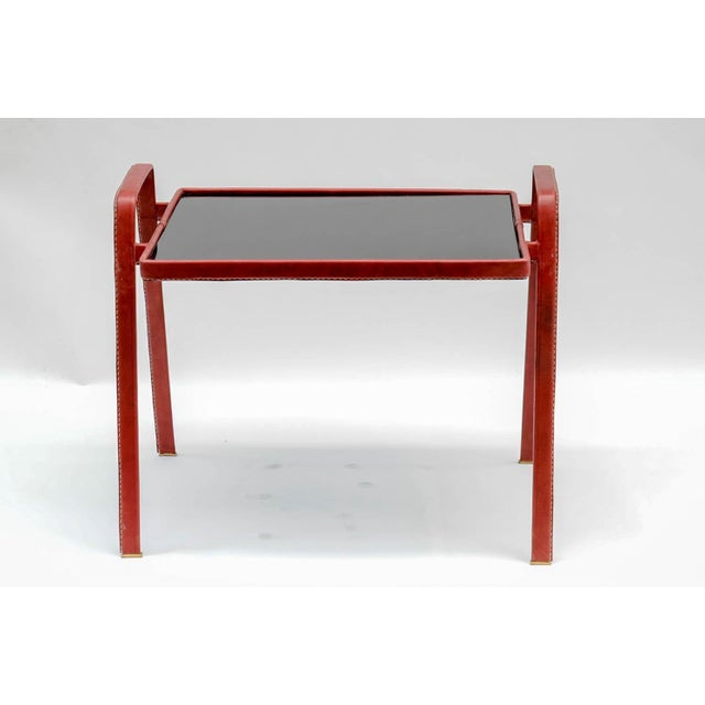 Mid-Century Modern Pair of Side Tables by Jacques Adnet For Sale - Image 3 of 7
