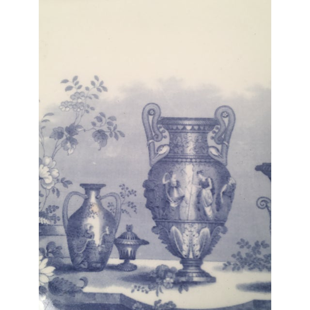 Blue and White Neoclassical Staffordshire Platter with Provenance For Sale In Boston - Image 6 of 11