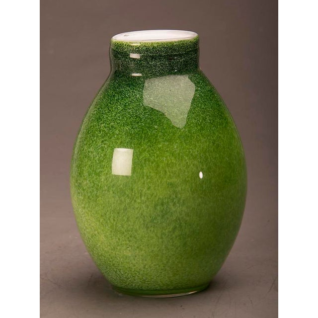Superior Contemporary Glass Vase Of A Luminous Green Colour From