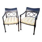 Image of Hollywood Regency Sheraton Chairs With Ornate Backs - a Pair For Sale
