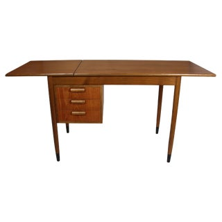Fold Down Teak Desk For Sale