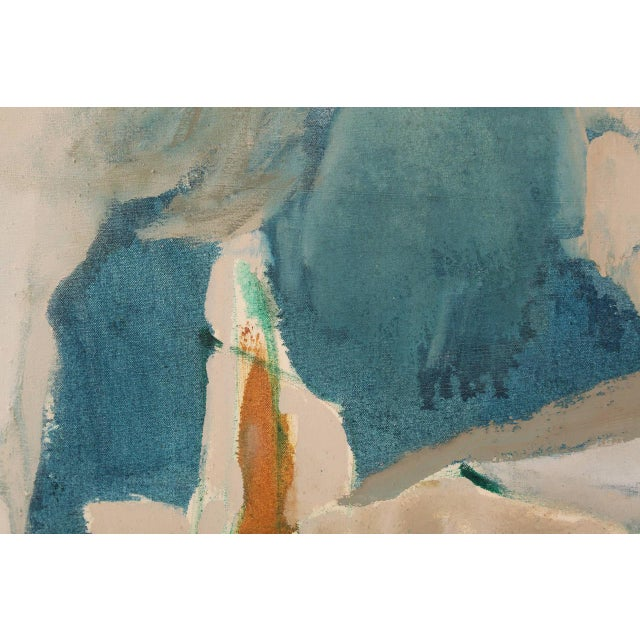 Mid-Century Modern Fabulous Large-Scale Modernist Painting by Carol Collins For Sale - Image 3 of 5