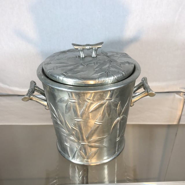 Aluminum Bamboo Ice Bucket - Image 8 of 9