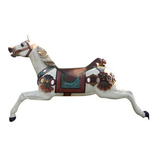 Heyn Carousel Prancer Dresden Parade Outer Row Horse Half Wall Horse For Sale