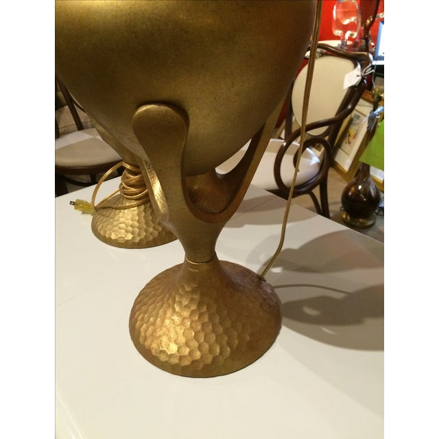Vintage Heyco Mid-Century Metal Lamps - A Pair For Sale - Image 5 of 10