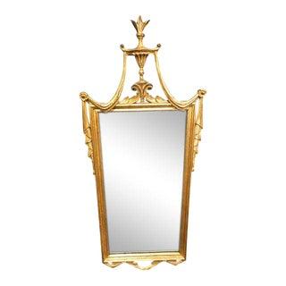1970s Boho Chic Gilded Drape Top Mirror