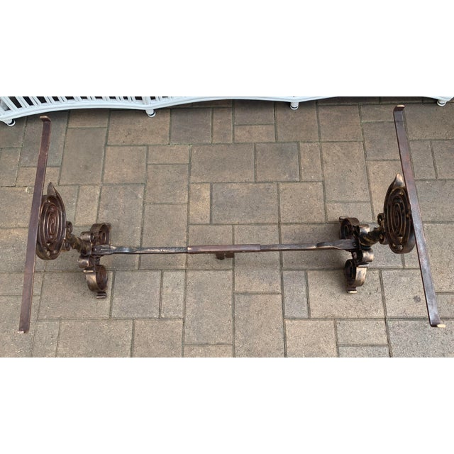 Wrought Iron Art & Craft coffee table base with hand forged design and beautiful grayish color granite with half bullnose...
