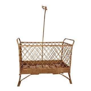 Full Sized Rattan Crib