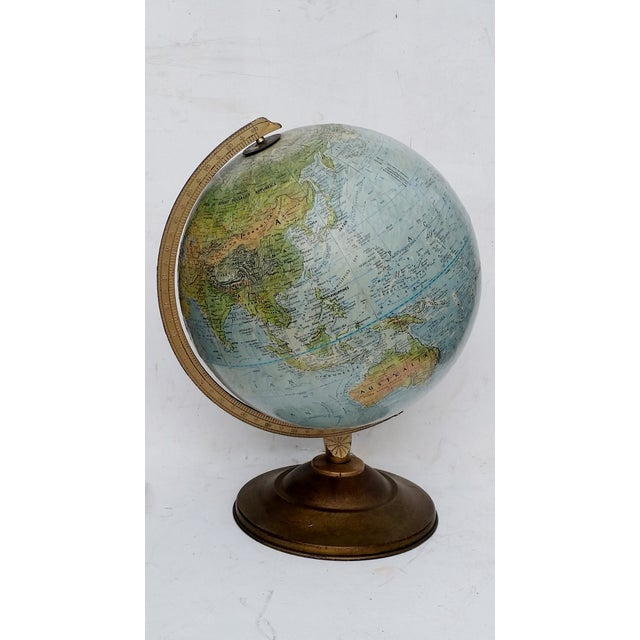 Vintage World Book Globe by Replogle on Stand - Image 4 of 10
