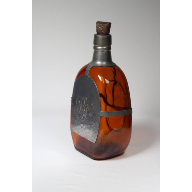 Antique Pewter Wrapped Rye Bottle - Image 4 of 4