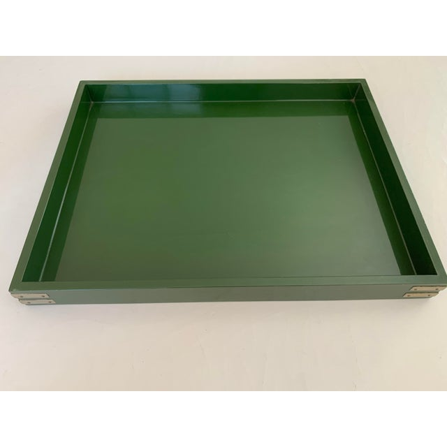 Beautiful green lacquer tray by Roe Kasian from the 1970's. Another great find from the estate of the owners of Southern...