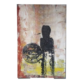 Cuban Figurative Modern Acrylic Painting For Sale