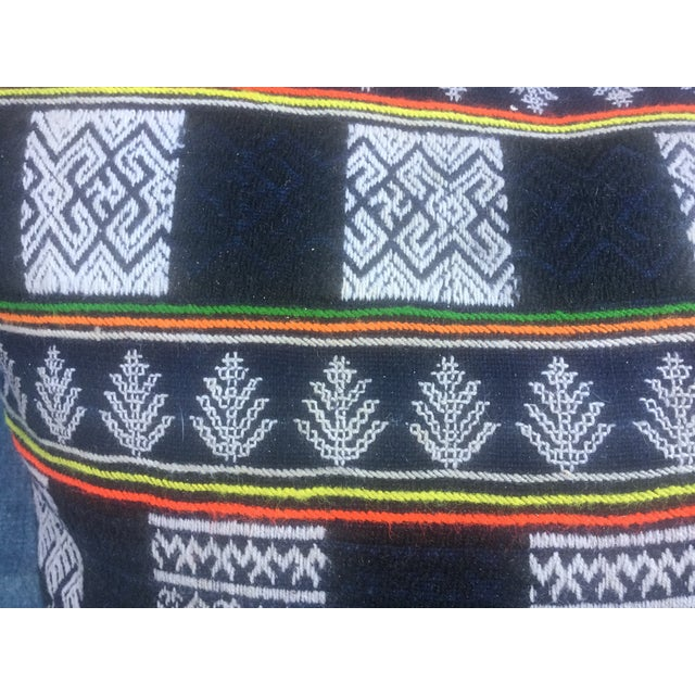 Asian Tribal Textile Pillow - Image 4 of 6