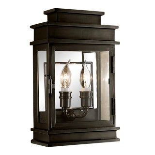Mayfair Wall Lantern in Black Bronze For Sale