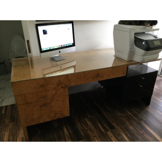 Italian Burl Wood Desk - Image 3 of 11