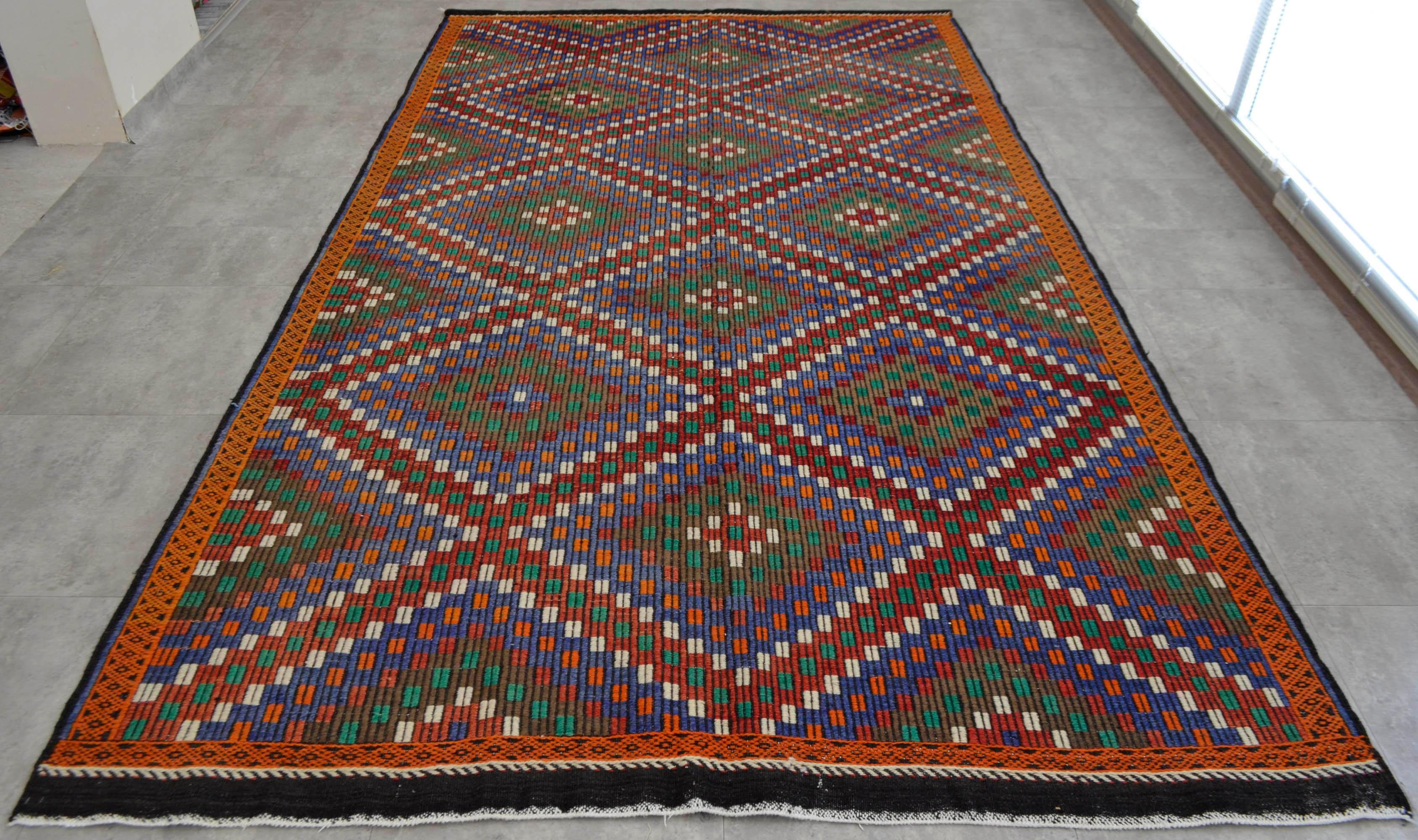 Handwoven Turkish Anatolia Kilim Rug 6 5 X 10 9 Chairish