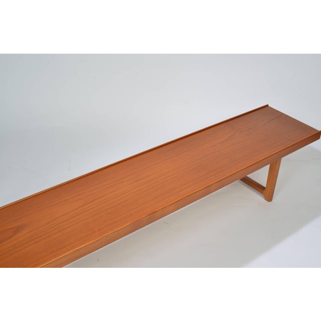 """Large """"Krobo"""" bench by Torbjorn Afdal for Bruksbo Norwayo. Excellent original condition with minor wear. Marked with label..."""