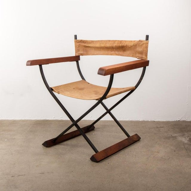 "American Mid Century ""Directors"" Chair For Sale In New York - Image 6 of 7"