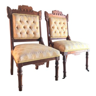 Victorian Eastlake Side Chairs - A Pair