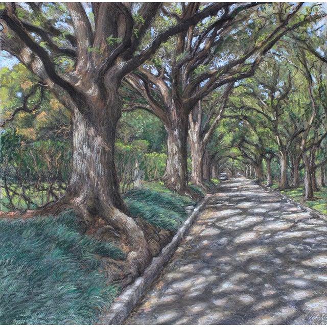 "Impressionist Garrett Middaugh ""North Blvd 2"" Pastel Painting For Sale - Image 3 of 3"