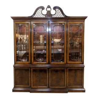 Drexel Heritage Heirloom Collection Mahogany Breakfront