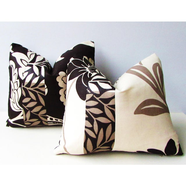2010s Romo Black & White Modern Floral Pillow Covers - a Pair For Sale - Image 5 of 8
