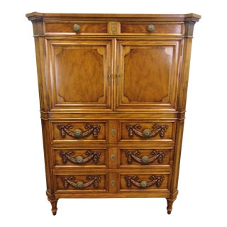 Karges Louis XVI Style Carved Fruitwood Gentleman's Chest For Sale